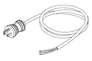 Patterson Dental Hospital Grade Power Cord Without Connectors 10a 125vac 10