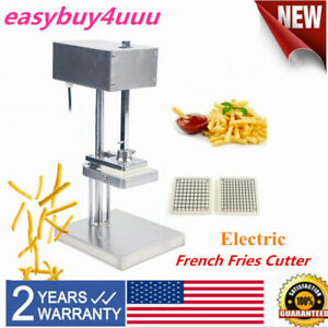 Commercial Electric French Fry Potato Cutter Slicers Chopper With 3 Blades New