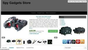 Money Making Spy Gadgets Store Automated Amazon Affiliate Website