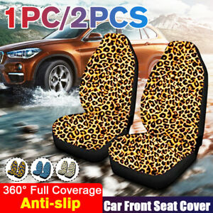Front Row Full Car Seat Cover Protection Flower Leopard Pattern Car Accessories Fits Seat