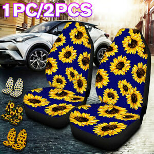 Universal Auto Car Seat Cover Row Full Flower Leopard Pattern Front Protector Us Fits Seat