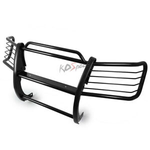 Black Front Bumper Push Bar Brush Grille Guard For 02 06 Chevy Avalanche 1500