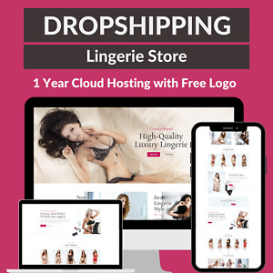 Lingerie Store Amazon Business Affiliate Dropshipping Website 1 Year Hosting