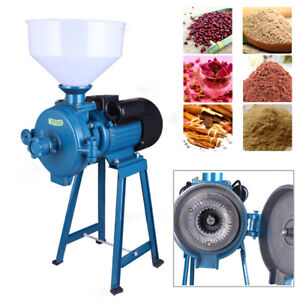 110v Electric Mill Grinder Powders Wheat Feed flour Dry Cereals Machine 1 5kw Us