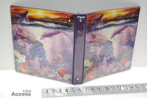 Mead 26101sj Dolphins Fishes Heavy Duty 3 Rings Binder 1 Vtg 10 X 11 5