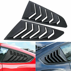 Side Window Louver For Ford Mustang 2015 2021 Windshield Sun Shade Cover Gt Abs