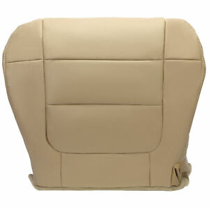 Fit 2001 2003 Ford F150 Lariat Super Crew Driver Bottom Leather Seat Cover Tan