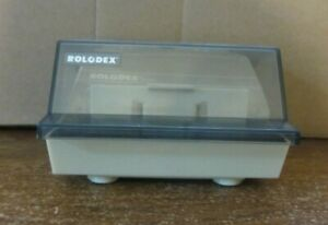 Rolodex Petite Black S 3000 Address Phone Business Card File Box With Cards