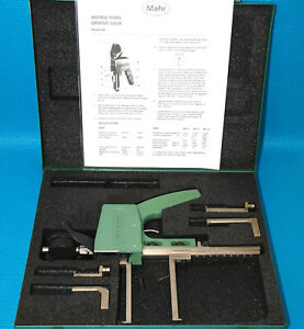 Mahr Federal 99p 21 Dial Groove And Recess Bore Gage Set Excellent Condition