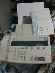 Brother Intellifax 770 Home Office Plain Paper Fax Machine Manual Accessories