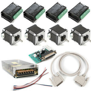 Kit 4 Axis Breakout Board dm432 Stepper Motor Driver For Diy Router mill plasma