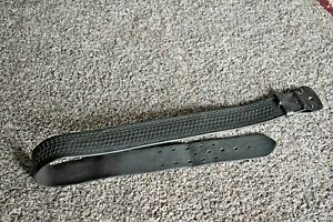 Service Duty Belt Tex Shoemaker Son Black Thick Leather N36 Size 36 41