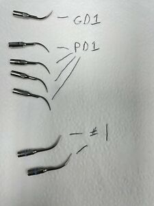 7 X Satelec Acteon Ultrasonic Scaler Tips Pre owned
