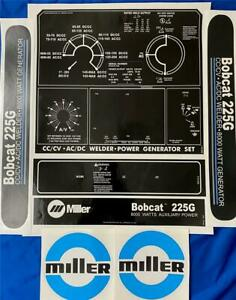 Miller Electric Arc Welders 225g 7 piece Decal wrap Control Plate Decals