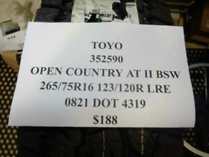 1 New Toyo Open Country At Ii Bsw 265 75 R16 123 120r Lre Tires 352590