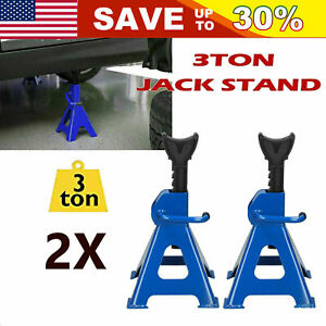 1 Pair Racing Jack Stands 3 Ton 6 000 Lb Heavy Duty For Car Truck Auto Lift Tool