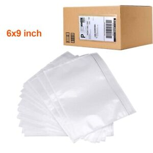 100 4000 Clear Packing List Envelopes 6x9 Invoice Slip Label Pouch Self Adhesive