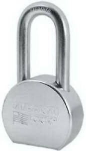 A703ka35257 2 1 2 In High security Padlock Zinc Plated Solid Steel 5 pin
