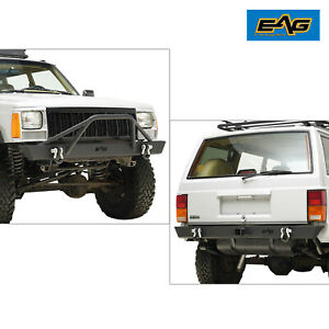Eag Xj Replacement Front Bumper Rear Bumper Combo Fits 84 01 Jeep Cherokee Xj
