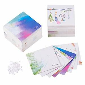 160 Pcs 8 Colors 2 3 X 2 3 Inches Necklace Earring Display Cards Pre Punched