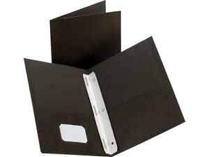 Hitouch Business Services 2 pocket Presentation Folders With Fasteners Black 10