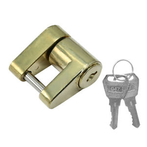 Universal Trailer Hitch Coupler Lock For 1 4 X3 4 Pin Boat Trailer Hitch Lock