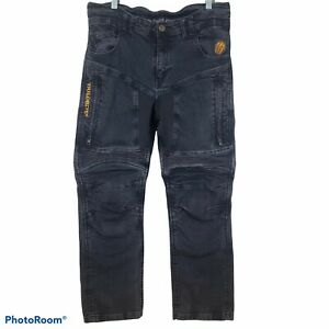 Trilobite Motorcycle Jeans Mens Size 36x29 Zipper Vent Made With Kevlar Black $150.00