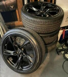 Set Of New 20 Chevy Camaro Rs Ss Oem Black Wheels Rims Goodyear Eagle F1 Tires