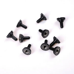 10x 6mm Black Mini Toggle Switch Rubber Resistance Boot Cover Cap Waterpyc