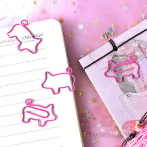 4pcs Pig Pink Bookmark Paper Clip School Office Supply Escolar Gift Stationeyjyc