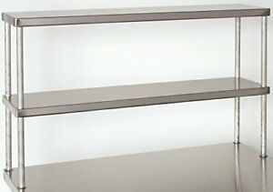 Tarrison Dos1236 Heavy Duty 18 Gauge Stainless Steel Top Double Work Table