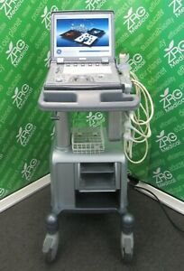 Ge Logiq E Portable Ultrasound 3 Probes 3s rs 4c rs 12l rs Cart