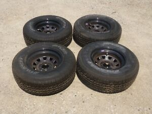R15 Tires Set Of 4 Starfire Sf510 235 75r15 Tires Mounted On Steel Wheels