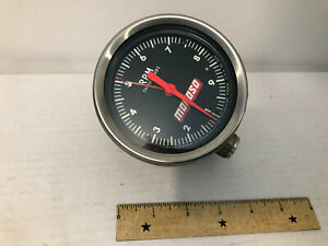 Vintage Moroso Performance 10 000 Rpm Tacometer Mechanical Drive Tell Tale