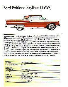 1959 Ford Fairlane Skyliner Retractable Article Must See