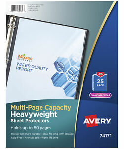 Avery Multi page Capacity Top Loading Sheet Protectors 8 1 2 X 11 Inches