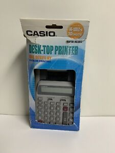 Casio Desk top Printer Hr 100lc w 2 color Print 10 Digits Tested With Manual