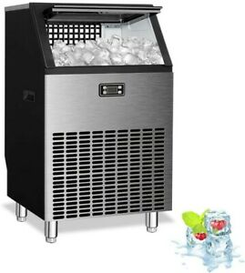 Adt Ice Mahcine Stainless Steel Under Counter Freestanding Commercial Ice Maker