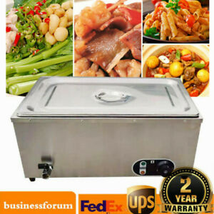 1200w Commercial Countertop Food Warmer Steamer Buffet Stainless Steel 110v Usa