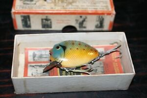 Vintage Heddon Punkinseed Sinker Fishing Lure in a Heddon Box with papers inside C $400.00