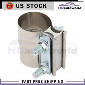 2 Inch New Lap Joint Exhaust Clamp Catback Muffler Downpipe Clamp Stainless