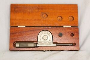 Vintage Brown Sharpe 748 Speed Indicator With Original Instructions Wooden Box