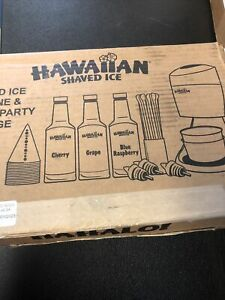 Hawaiian Shaved Ice And Snow Cone Machine Party Package S900
