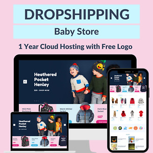 Baby Fashions Store Amazon Affiliate Dropshipping Website Free 1 Year Hosting