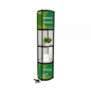 Usa Stock 81 Round Portable Aluminum Spiral Tower Display Case With Shelves