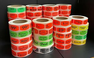 Grocery Store Sale Retail Pricing Labels Stickers