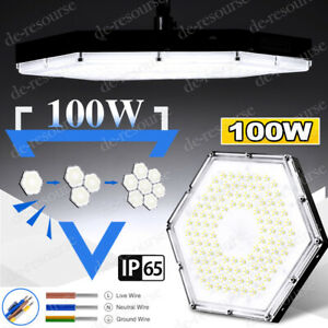 100w Led High Bay Light Warehouse Ceiling Factory Shop Lighting Industrial Ip65