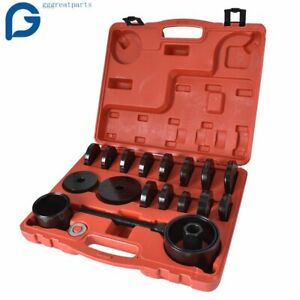 23pcs Front Wheel Bearing Press Kit Removal Adapter Puller Pulley Tool Case