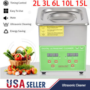 2l 3l 6l 10l 15l Stainless Ultrasonic Cleaner Industry Heated Cleaning Machine
