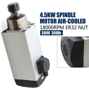 4 5kw Air cooled Spindle Motor Stainless Steel Woodworking Cnc Router 18000rpm